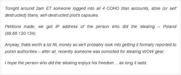 złodziej eve online